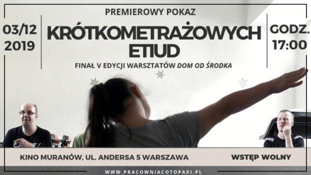 plakat pokazu filmów
